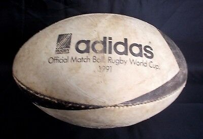 Vintage ADIDAS WALLABY  Rugby World Cup 1991  Official Match Ball  Leather