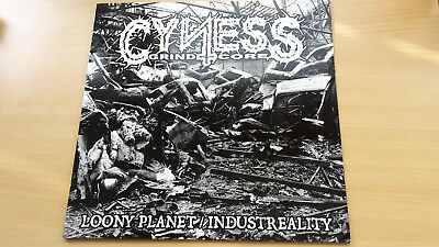 "CYNESS ""Loony Planet/ Industreality"" LP grindcore napalm death phobia nasum"