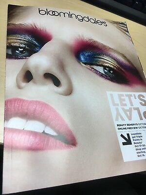 Bloomingdale's Let's Play Oct 2017 Beauty Benefits Magazine Ad Catalog