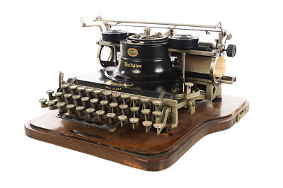 Hammond Multiplex -Gorgeous Antique Typewriter w/oak case - c1900s