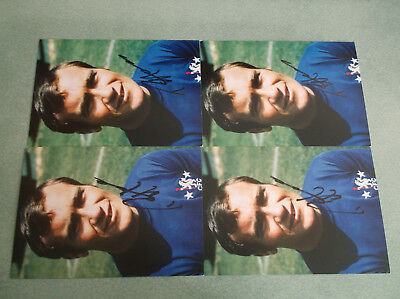 Stunning Signed Ron Chopper Harris Promo Card x 4 Sale Trade Deal