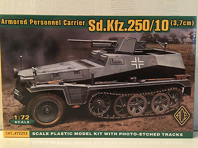 Sdkfz 250/10 3,7cm Pak Armored Personnel Carrier 72253 1/72 ACE