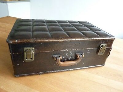 Vintage retro PADDED FAUX LEATHER SUITCASE – STEAMPUNK