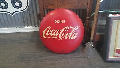 1950's vintage DRINK Coca Cola 24 Inch Button Sign