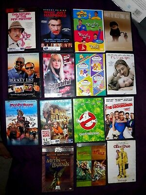 LOT of 18+ dvd movies & 1 BRAND NEW Blu-ray included - Comedy - Drama - Kids TV