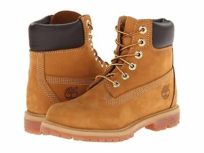 "Women's Shoes Timberland 6"" Premium Waterproof Boots TB010361 Wheat *New*"