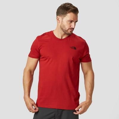 New The North Face Mens Simple Dome T-Shirt Outdoors Clothing Red