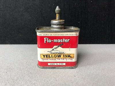 Flow-Master - Ink Tin Lead Top - 2 OZ. YELLOW