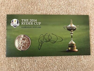 Rory Mcilroy Signed Commemorative Ryder Cup Coin COA Proof