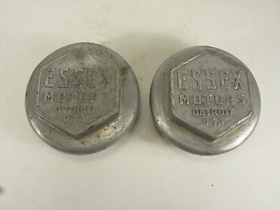 Essex Auto hub caps - lot of two aluminum 1920's