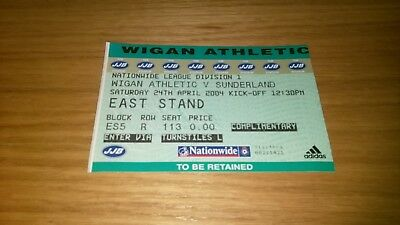 Wigan Athletic v Sunderland  24/4/4  unused