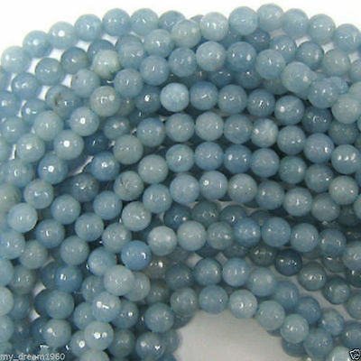 """new 6mm South African Blue Topaz Gems Round Loose Beads 15"""" AAA"""