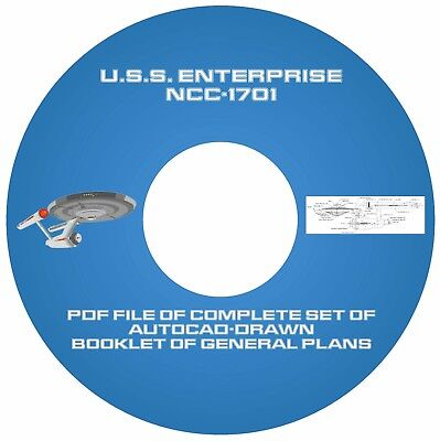 Star Trek USS Enterprise NCC-1701 Plans CD