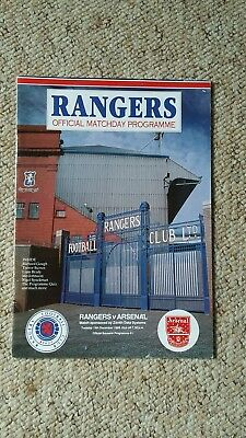 Glasgow Rangers v Arsenal 1989 Friendly