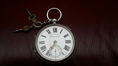 Old Improved Patent English Leaver Hallmarked Silver Pocket Watch Not Scrap