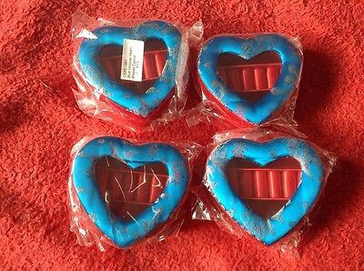 4 X Heart Shaped Ring Box/Gift Box/jewellery Box