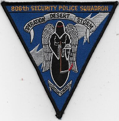 "Rare Original Ds ""806Th Security Police Squadron"" Patch - Emb On Twill"