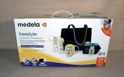 NEW Medela Freestyle Double Electric BreastPump Deluxe Set 67060