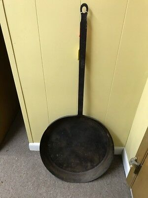 RARE 18th Century Revolutionary War Era Wrought Iron Skillet / Pan -20""