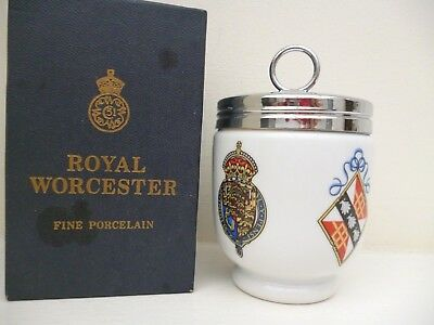 Royal Worcester Egg Coddler Charles And Diana King Size Boxed