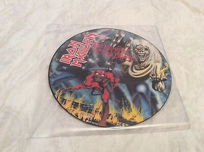 """Iron Maiden """"The Number Of The Beast"""" original 1982 picture disc LP."""