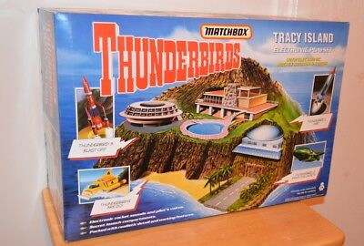 Matchbox Thunderbirds Tracy Island Electronic Playset with Rocket Sounds/Voices