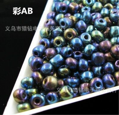 2000pcs Seed Glass Loose Bead Jewelry Making DIY 2mm Wholesale Lots Color AB
