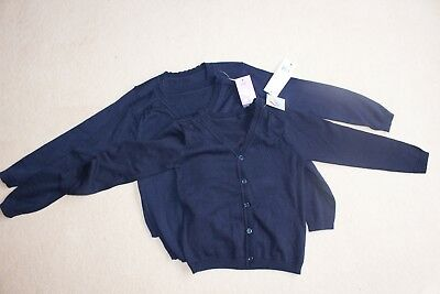 3 BRAND NEW school cardigans - Navy age 5-6 years