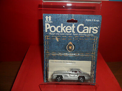 Very Rare Tomy Pocket Car - Mercedes 300SL,Still Sealed In Blister Pack,1980's.