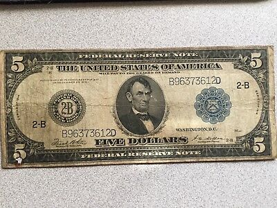 $5 Over Sized Bill 1914