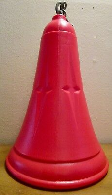 LARGE 16 Inch Tall Vintage Hanging Red Plastic Electric Lighted Christmas Bell