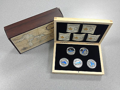 2014/15 Royal Canadian Mint - $20 Silver Coins: The Great Lakes Series