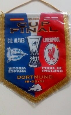 UEFA cup final pennant 2001 Liverpool v Alaves