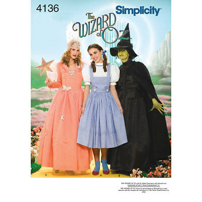 Simplicity Sewing Pattern 4136   Women's Wizard of Oz Costumes