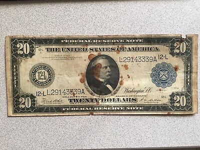 $20 Over Sized Bill 1914