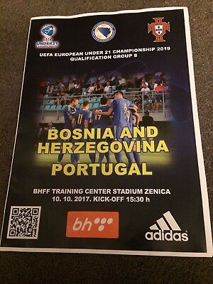 Bosnia U21 V  Portugal U21 - Euro U21 2009 Qualifier- 10 October 2017- Programme
