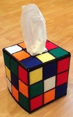 Rubik's Cube Tissue Box Cover, Free tissues, as seen on BBT/Big Bang Theory