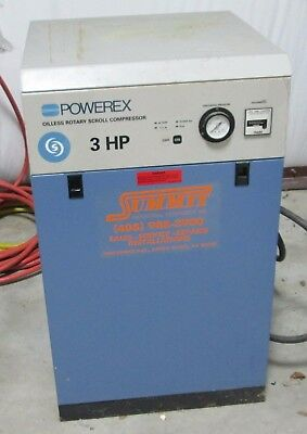 Powerex Oilless Rotary Scroll Compressor 3 Hp 3 Phase WORKING