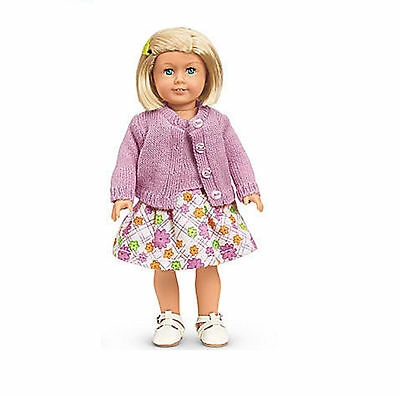 "American Girl KIT'S MINI DOLL 6"" W/OUT BOOK CLEAR COVER Blonde Kit Dress NEW"