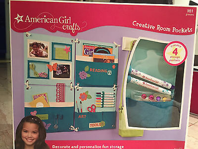 NIB!!!!  American Girl Crafts Creative Room Pockets Turquoise!!! 101 PIECES