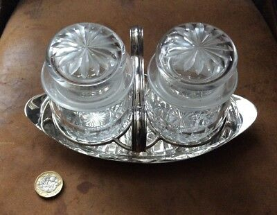 Antique Hukin And Heath Silver Plated Preserve Jar Stand,dr Dresser 5582 Crystal