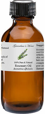 Rosemary Essential Oil - 2 oz - 100% Pure and Natural - Free Shipping