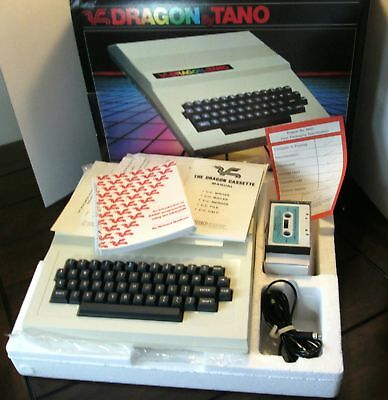 vintage TANO DRAGON 64 COMPUTER w/box (not working) TRS-80 CoCo compatible