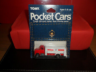 Rare Tomy Pocket Car - Esso Petrol Tanker,Still Sealed In Blister Pack,1980's.