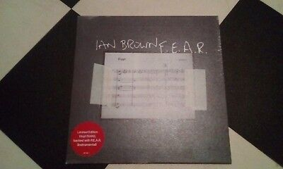 "Ian Brown - F.E.A.R 7"" vinyl record limited edition Stone Roses"