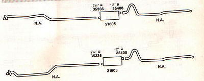 1963 Pontiac Starchief & Bonneville Dual Exhaust, Aluminized With 389 Engines