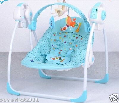 Blue Security Collapsible Electric Rocking Chair/Baby Rocking Chair !@&