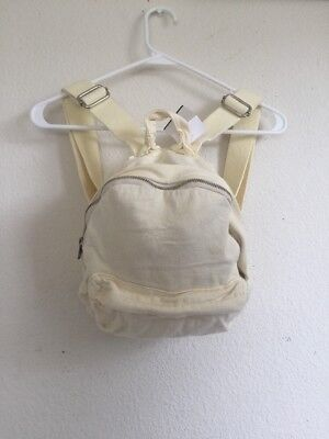 e6f6004a02 Last one! brandy Melville John Galt pastel yellow MINI cotton backpack NWT  OS