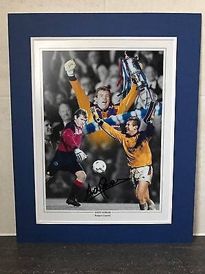 Andy Goram Signed Photograph And Mount Rangers Legend