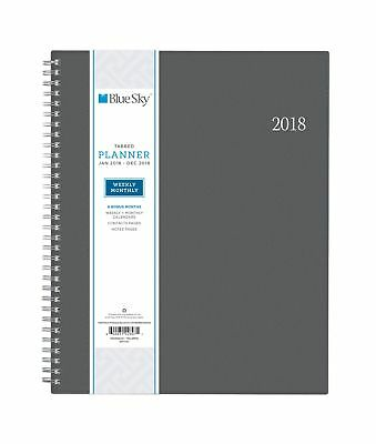 """Blue Sky 2018 Weekly & Monthly Planner Twin-Wire Binding 8.5"""" x 11"""" - NEW"""